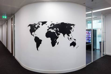 Image of a London curved office wall
