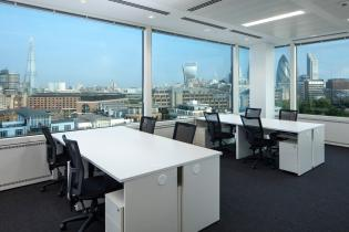 Image of London office bench desks