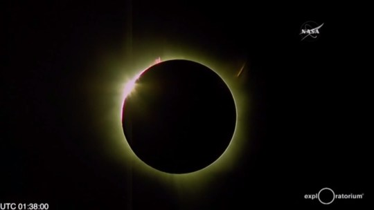Total solar eclipse viewed from Woleai Island in Micronesia in 2016