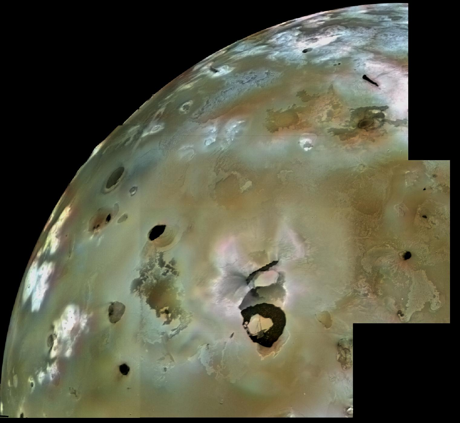 Volcanic Eruptions on Jupiter's Moon Io Tracked Over Time