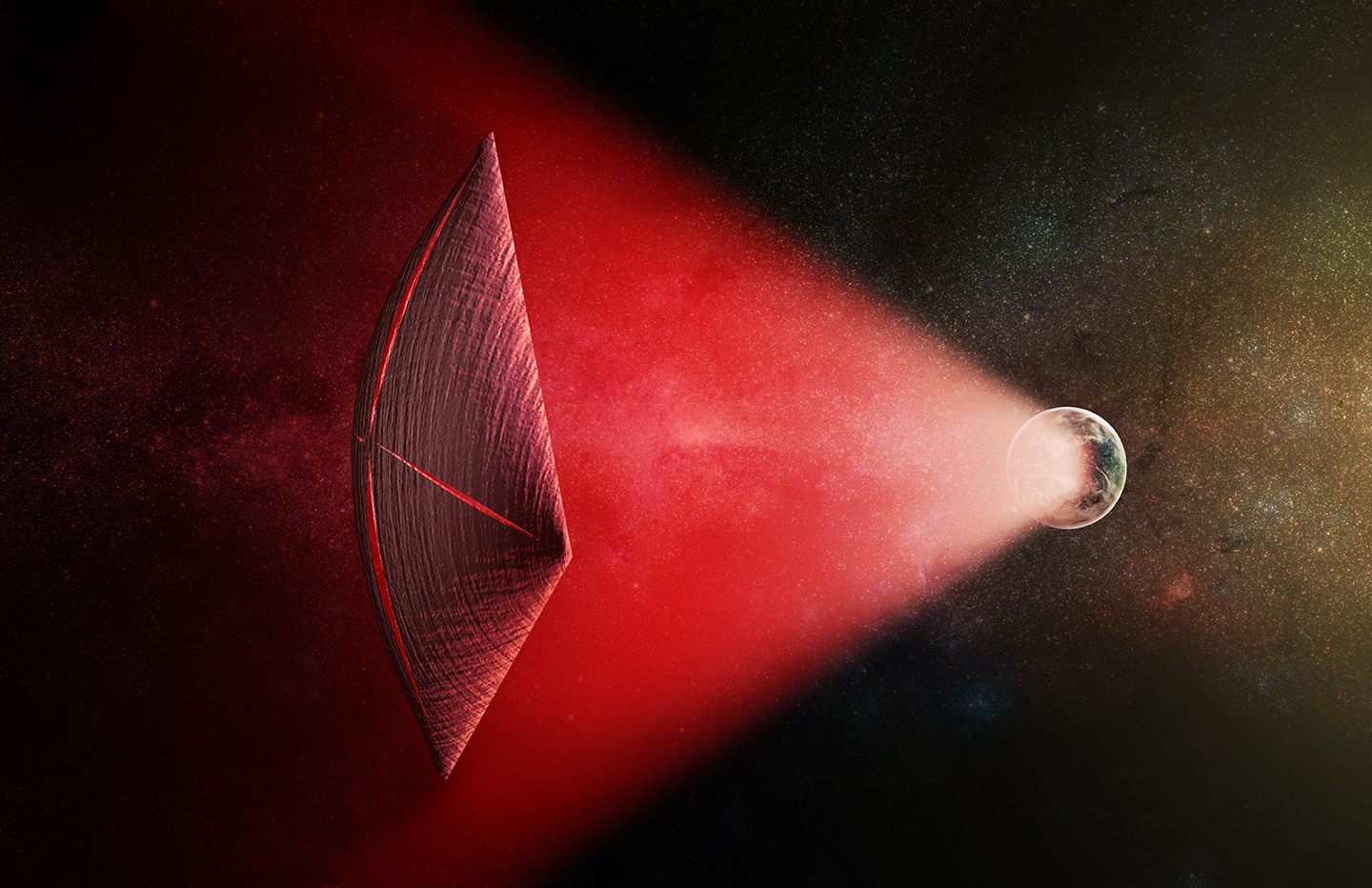 Could Mysterious Cosmic Light Flashes Be Powering Alien Spacecraft?