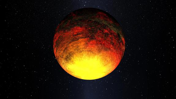 Artist's concept of Kepler-10b. NASA