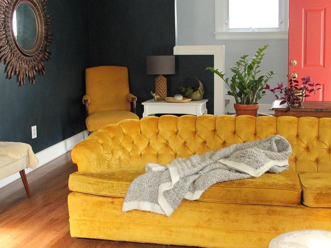 fall home decor trends velvet living room
