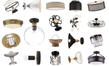 Space And Habit Affordable Flush Mount Lighting