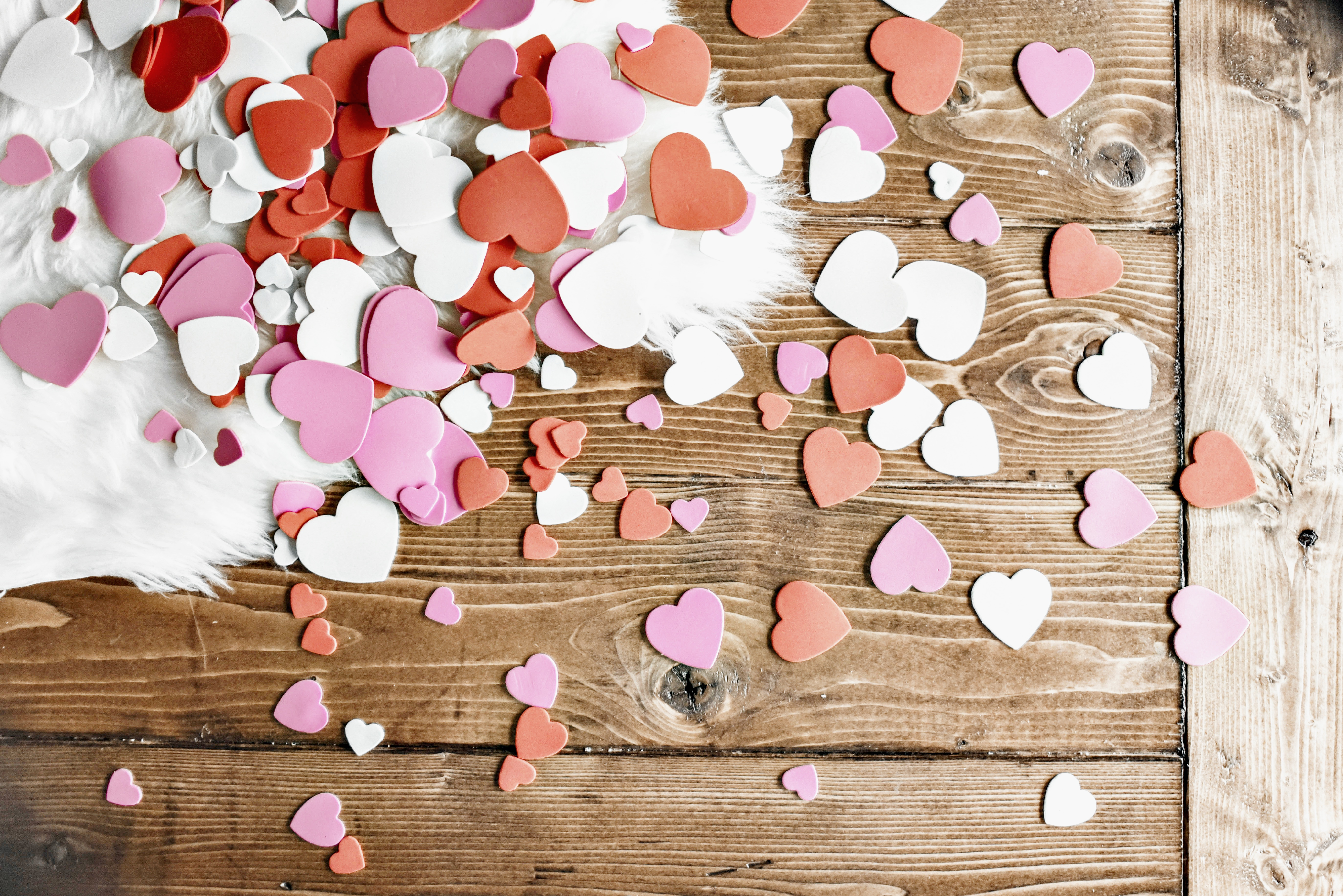 Space And Habit Valentine's Day Gifts Heart Confetti