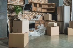 Kitchen Being Unpacked - Move Coorindator Houston TX