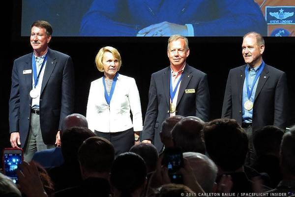 Astronaut Hall of Fame induction ceremony 2015 Kennedy