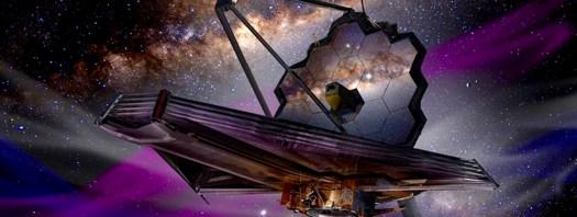 Das Konzept des Künstlers des James Webb Space Telescope.  Bildquelle: James Vaughan / SpaceFlight Insider