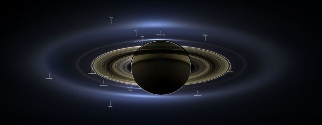 Cassini has provided with a ocean of data that scientists will have to review for years to come. With six new moons discovered and 635 gigabytes of data for them to sift through - scientists have their work cut out for them. Image Credit: JPL / NASA