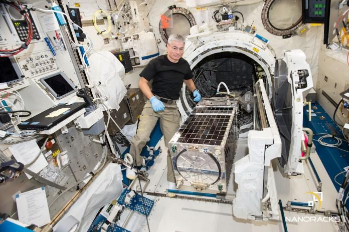 NASA astronaut Mark Vande Hei inside the Japanese Kibo module during his first trip to the ISS. Photo Credit: Nanoracks / NASA