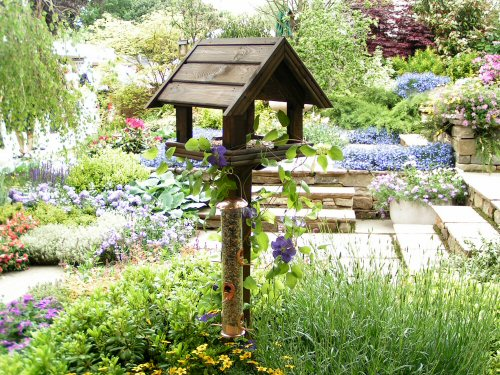 Gallery: Bird table in the on Birds Backyard Landscapes  id=37272