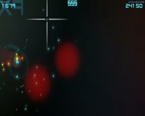 Drilling through a planet collecting powerups.
