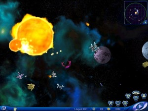 Space Rangers combat screenshot.