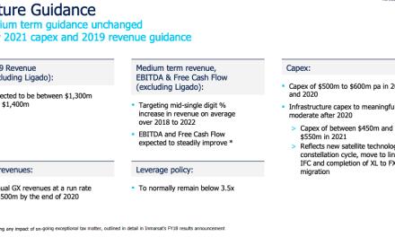 Inmarsat management urges approval of $3.4-billion buyout; prospective owner endorses, sort of, Inmarsat capex plan
