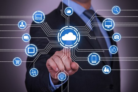 Abstract Cloud Computing Concept