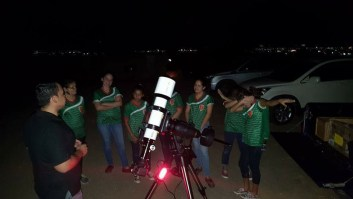 Astronomy workshop with scouts