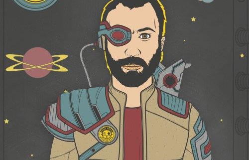 Space Pirate Portrait