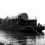 S-I & S-IV Stages Aboard Compromise Barge
