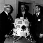 One-eighth scale Lunar Module shown by Grumman