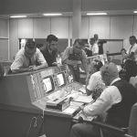 Kraft in Mission Control for Gemini 5
