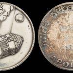 Apollo 1 medallion flown on Apollo 9