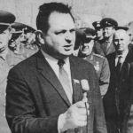 Vasily Mishin at Baykonur in 1967. Credit B. Chertok