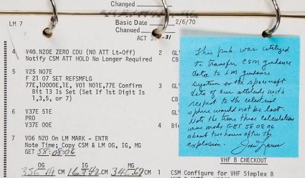Apollo 13 checklist landscape