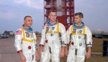 The crew of Apollo 1 (Credits: NASA).
