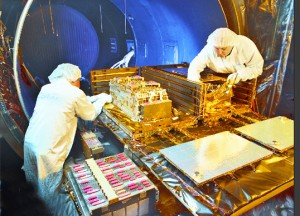Satellite testing being conducted at Space Systems/Loral (Credits: SS/L).