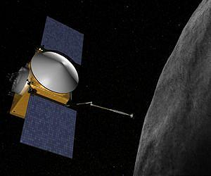 OSIRIS-REx, envisioned approaching 1999 RQ36 (Credits: NASA).