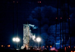 Antares hot fire on February 22 (Credits: Orbital Sciences).