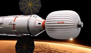 Artist's impression of the spacecraft that will fly to Mars (Credits: Inspiration Mars).