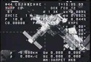 Progress 49 photographed by Russian crew from the Zvezda module (Credits: NASA TV).