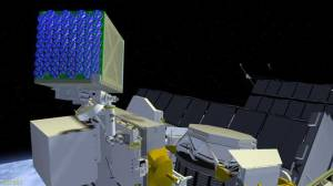 Rendition of the 56 X-ray telescope array that comprises SEXTANT, mounted on ISS (Credits: NASA).