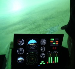 A flight simulator from Black Sky's training curriculum (Credits:Black Sky Training).