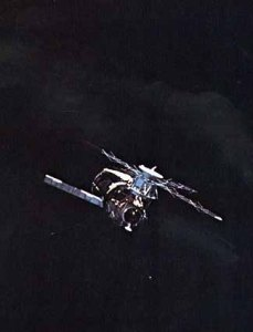 The first view of Skylab in orbit was disheartening for Pete Conrad, who had headed the astronaut office's Skylab Branch (and been nicknamed 'Sky King') since 1970. One solar array was gone, the other was jammed and the lost micrometeoroid shield placed any prospect of a successful repair in jeopardy (Credits: NASA).