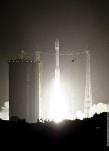 Vega's liftoff from Kourou on May 7 (Credits: ESA).