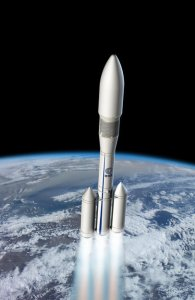 Artist's conception of Ariane 6. (Credit: ESA)