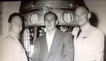 "From left: Capt. Joe Kittinger, Bernard ""Duke"" Gildenberg, and Dr. David Simons (Credits: USAF/Foolish Earthling Productions)."