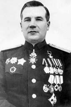 Marshal Mitrofan Ivanovich Nedelin, commander in chief of the Soviet Union's Strategic Rocket Forces (Credits: USSR).