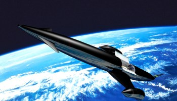 A rendition of Skylon, the UK air-breathing launch vehicle (Credits: Reaction Engines Limited).