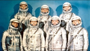 "The men with ""The Right Stuff"" – and the famous book about them with the same name – go under the microscope in the Smithsonian Institution Scholarly Press' new offering. Photo Credit: NASA."