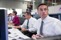 David Korth (second from right) served as ISS Flight Director in Mission Control during EVA-23. It was his call to terminate the spacewalk on safety grounds (Credits: NASA).