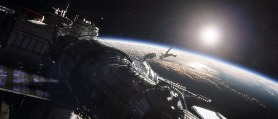 "The movie ""Gravity"" tells the story of two astronauts stranded in space after their Space Shuttle is destroyed by a debris impact during their EVA (Credits: Warner Bros.)."