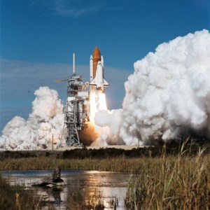 When the countdown clock began ticking, nine minutes before launch, it must have caught the assembled spectators by surprise. Mission 51C was indeed the quietest human launch ever conducted by NASA, a fact which sat uneasily with Public Affairs staff and public alike (Credits: NASA).