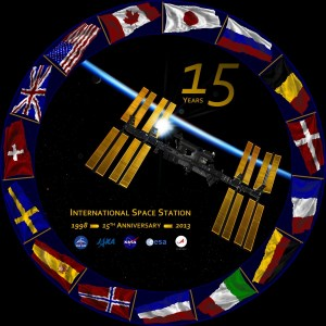 At the end of 2013, the International Space Station celebrated its 15th anniversary of the docking of its first two modules (Credits: NASA).
