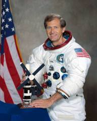 Pogue served as the pilot for the third and final mission to NASA's Skylab space station (Credits: NASA).