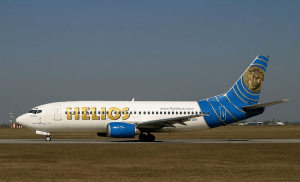 A Helios Airways Boeing 737-31S at Ruzyne Airport (PRG / LKPR). This aircraft crashed on Greek soil on 14 August 2005 (Credits: Alan Lebeda).