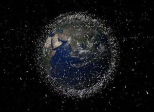 The Earth is surrounded by a halo of space debris (Credits: ESA).