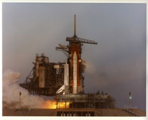 The closest the shuttle ever came to a launch at the time of abort was T-1.9 seconds, on 18 August 1994. So close was the shuttle to launch, the on-board General Purpose Computers had already moded to their 102 ascent software configuration at the time of the abort (Credits: NASA).